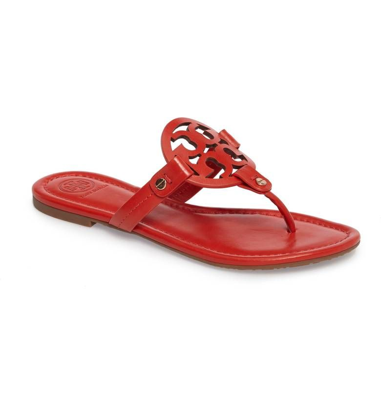 0db751763fc3a I love the iconic Tory Burch  Miller  Flip Flop and seriously considering  the  Poppy Rouge  Red this season! A breezy