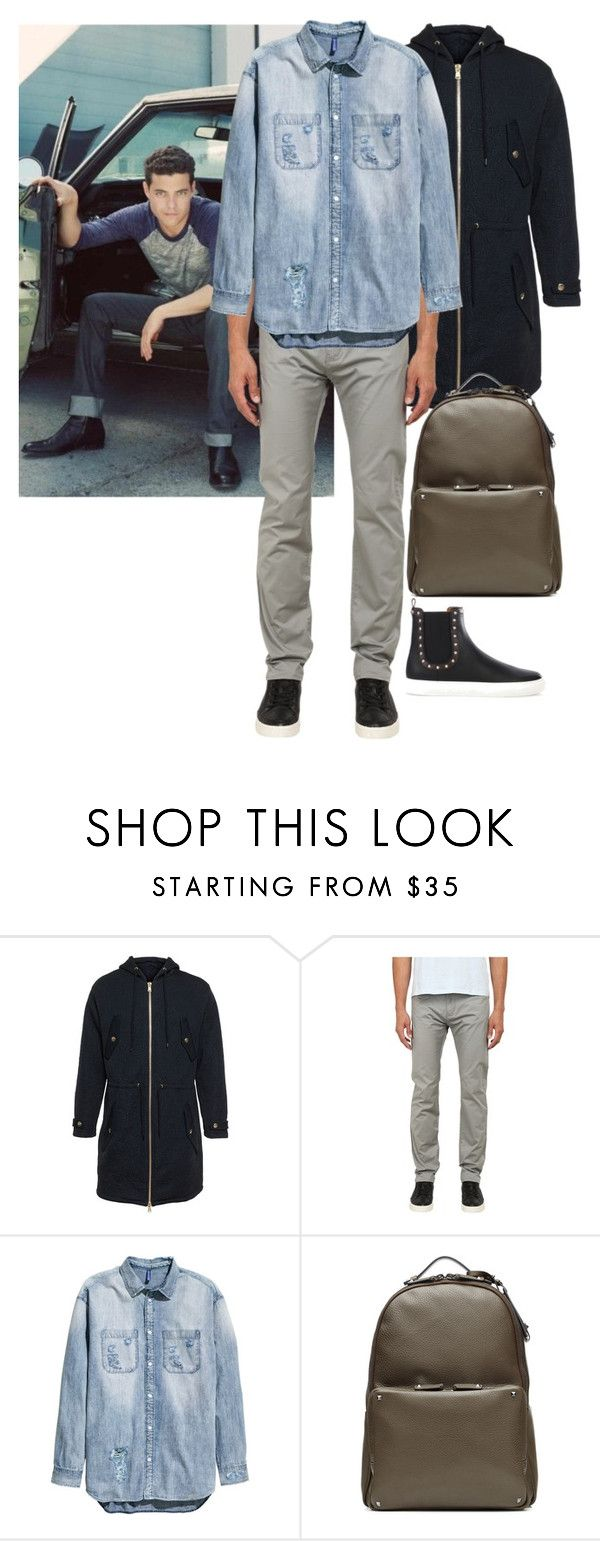 """""""Abbot Wakeling"""" by ashleyr0sexo ❤ liked on Polyvore featuring Moschino, Armani Jeans, Givenchy, men's fashion and menswear"""