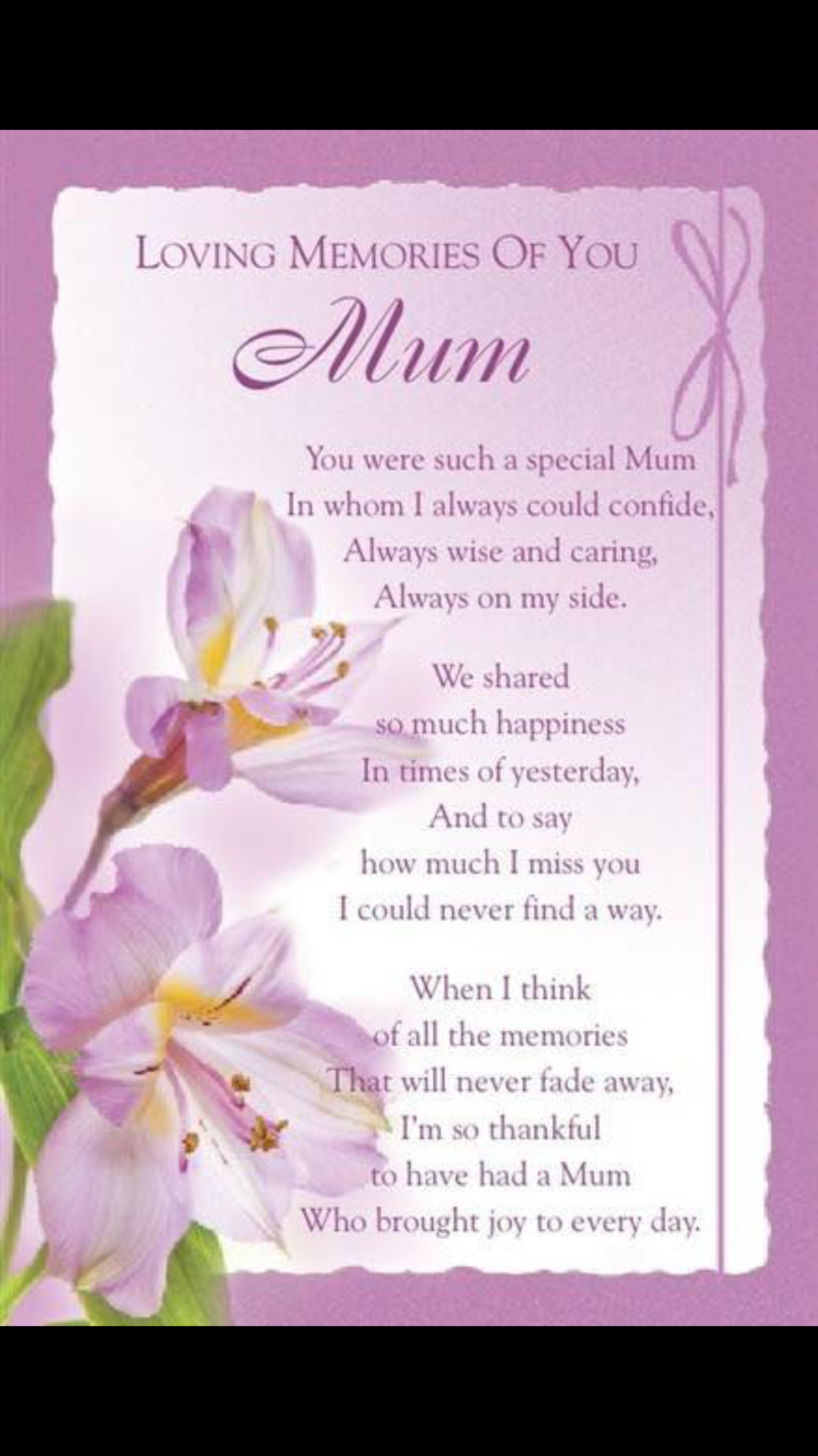 You Were Such A Special Mom Miss You Mum Birthday In Heaven
