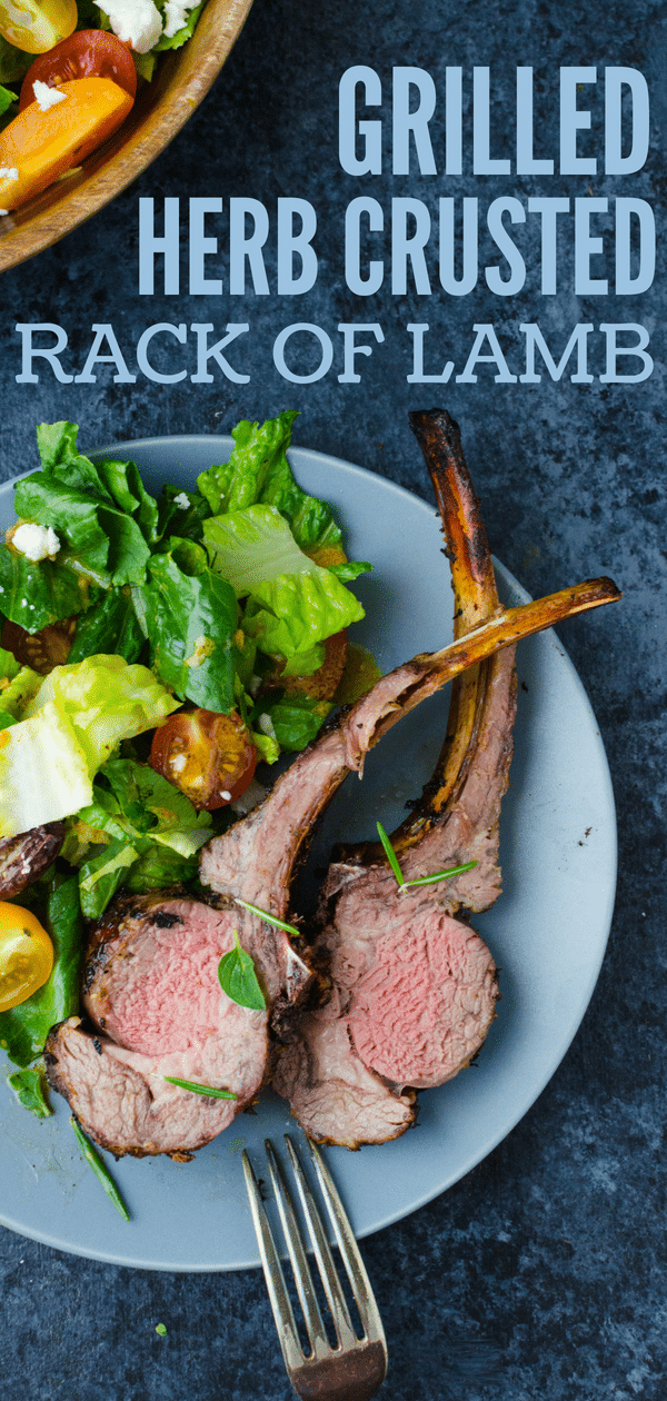 Grilled Herb Crusted Rack of Lamb is an easy lamb recipe with a savory herb garlic marinade. Find o