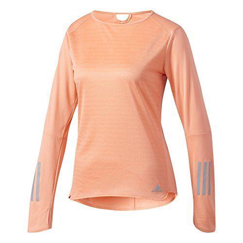 adidas Response Running T Shirt Ladies Sun Glow Over the