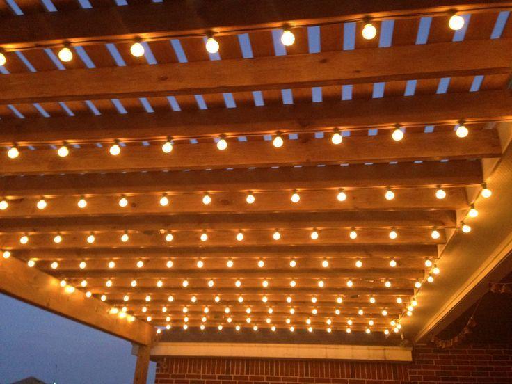 Pergola lights pergola lighting pergola lights for Pergola lighting ideas