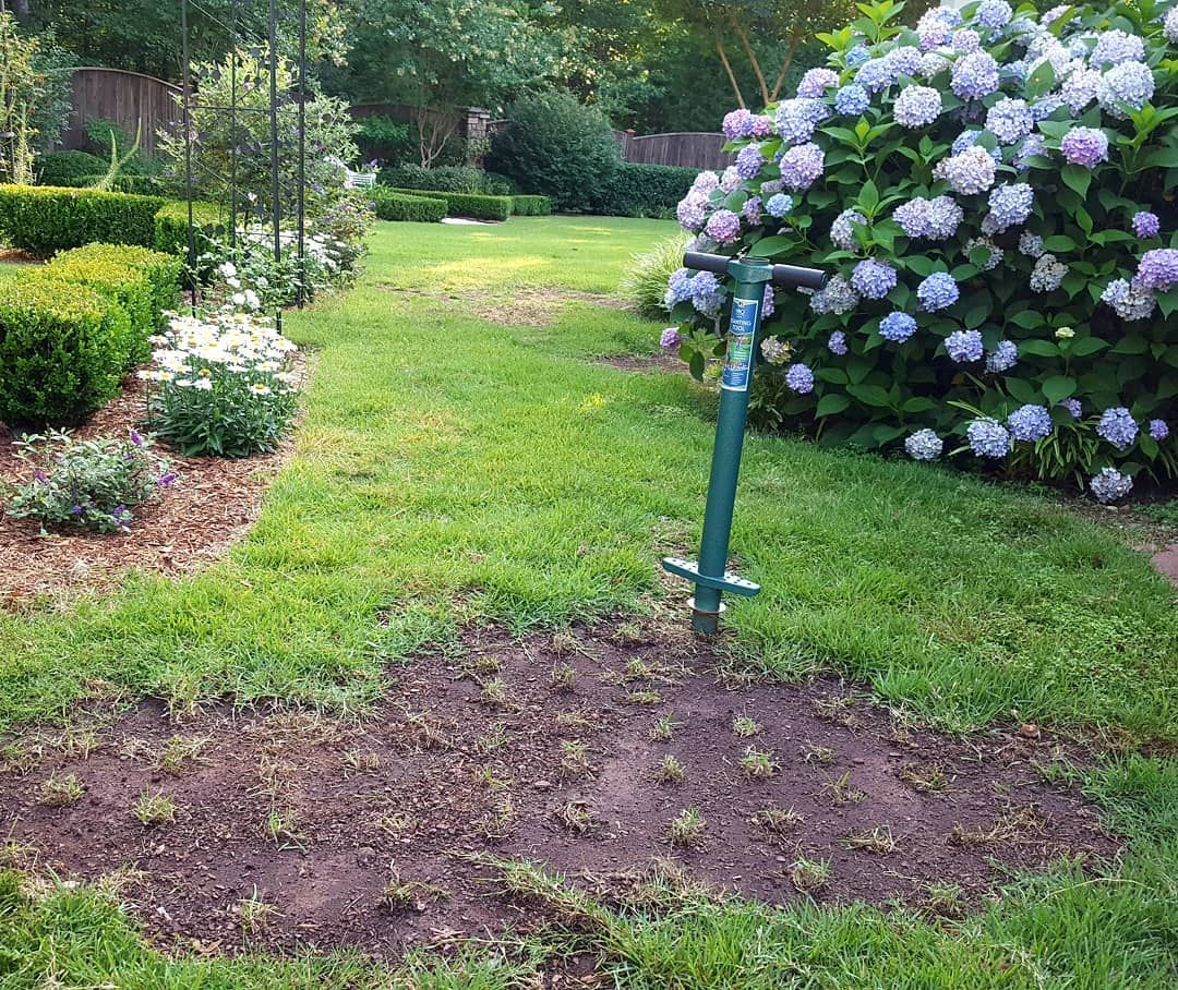 A Little Lawn Repair Plugging Over The Weekend Madeinusa