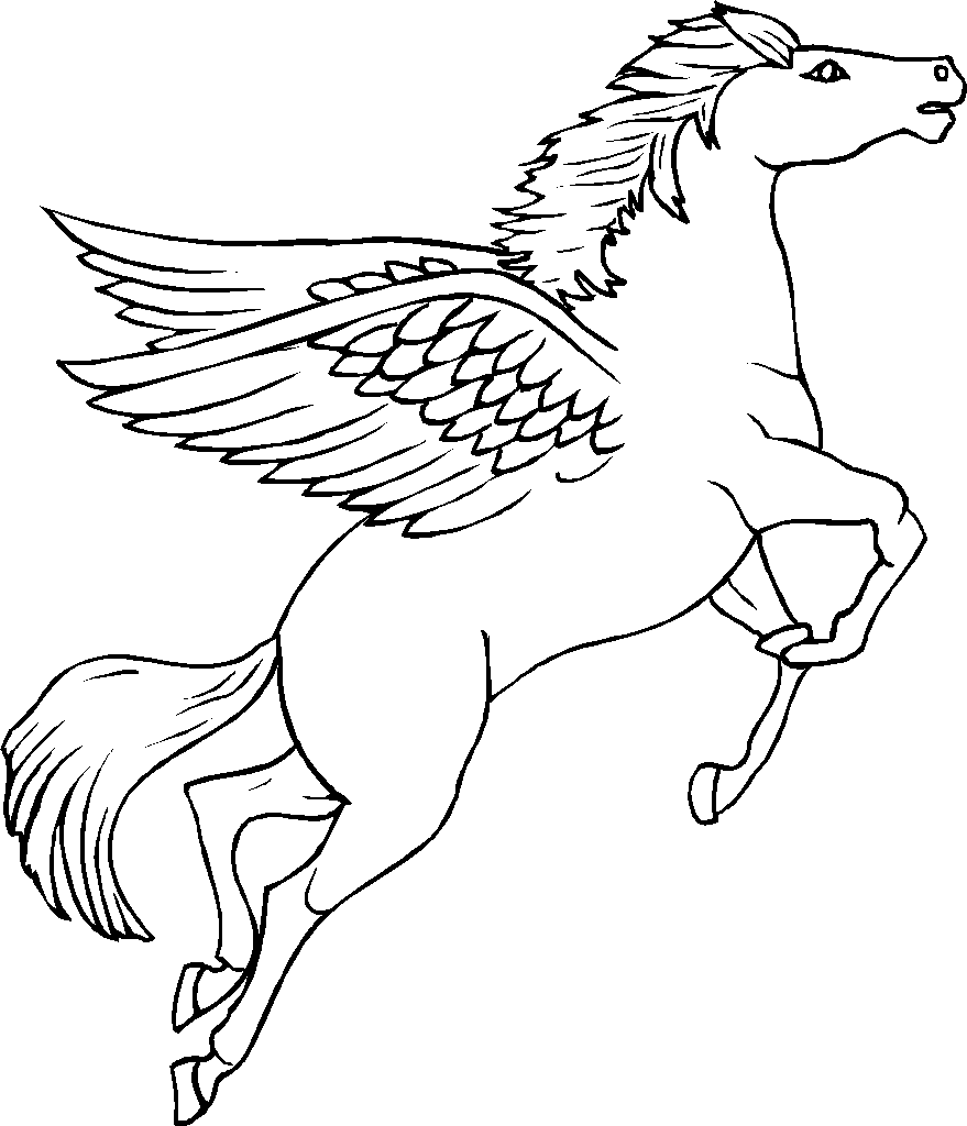 pegasus coloring page coloring pages pinterest colorear