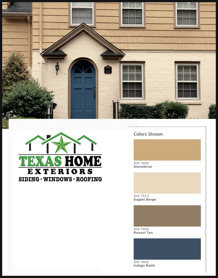 Sherwin Williams Exterior Paint Color Yellow Beige Tan