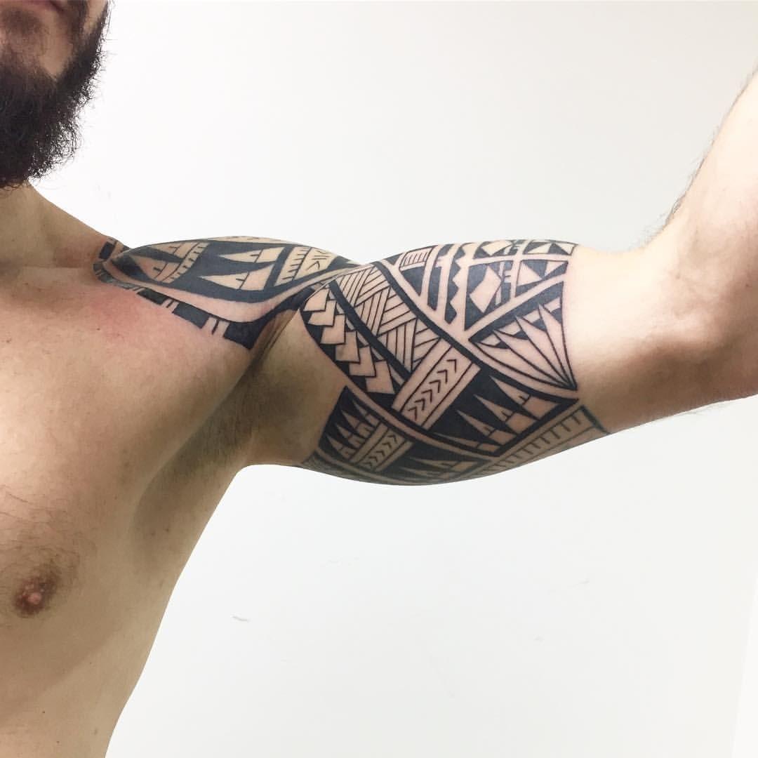 Parte Interna. Estilo Polinésio. 6 Sessões. #maoritattoo
