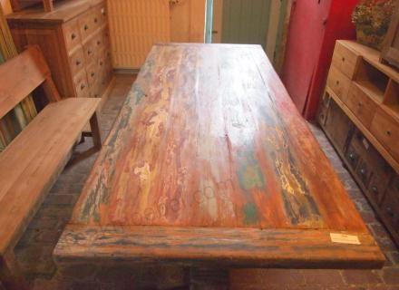 Teak Klostertisch Mit Farbresten Teak Rustikale Tische Tisch