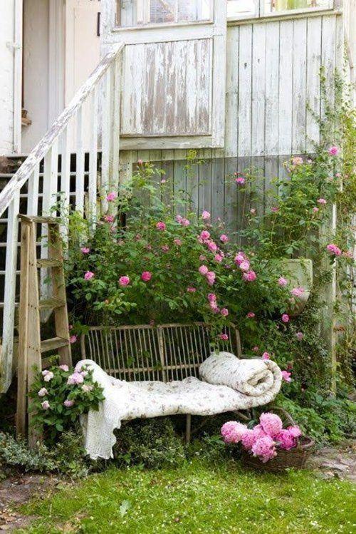 Gartenbank selber bauen Anleitung auflagen rosen Loraine neves - gartenbank selber bauen bauanleitung