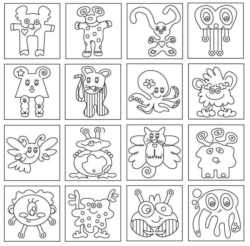 R sultat de recherche d 39 images pour coloriage de monstre - Images de monstres rigolos ...