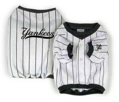 $32.99-$25.00 Baseball Jersey - New York Yankees - Extra Small - Dress your dog just like the Pros in this home team jersey. http://www.amazon.com/dp/B0016K9G6W/?tag=pin2pet-20