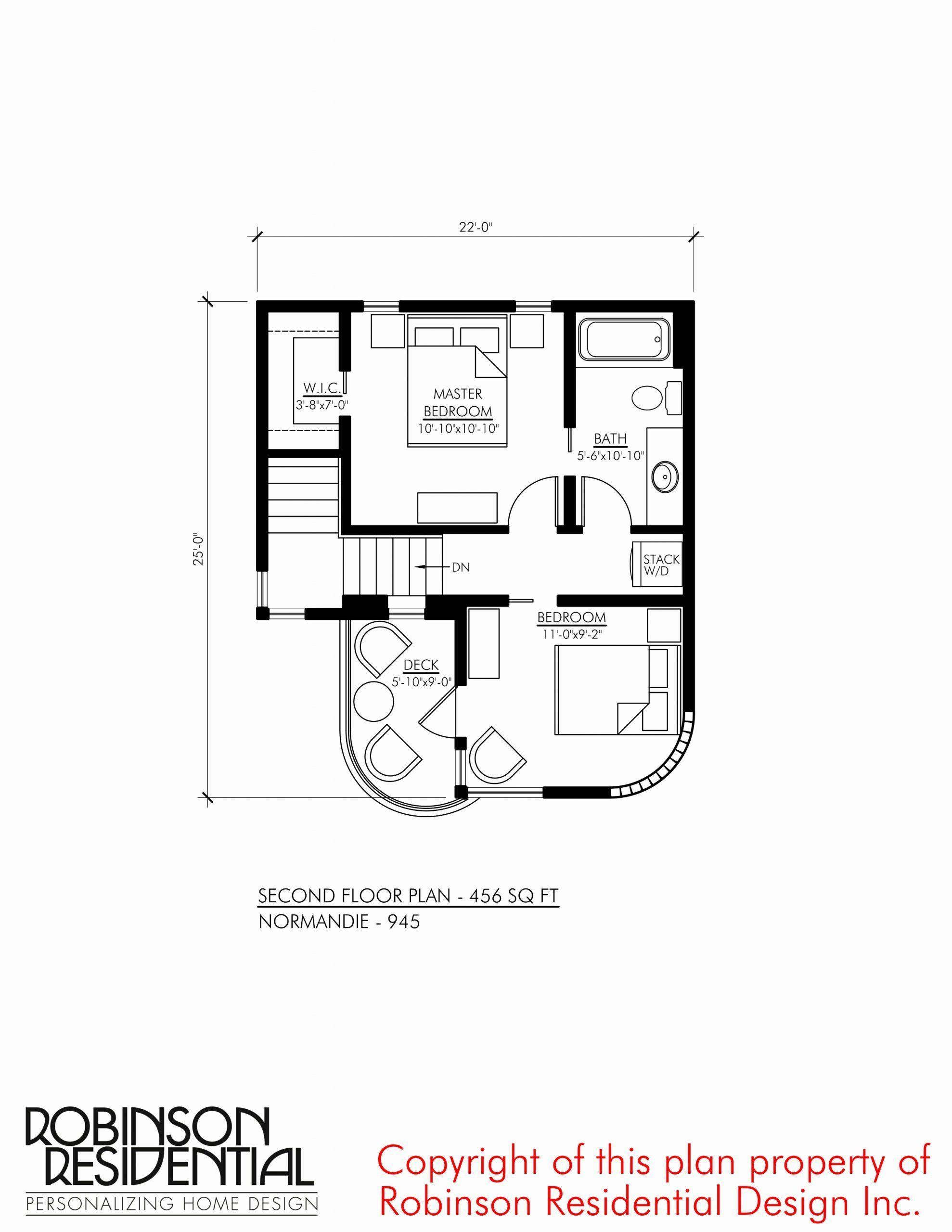 10x10 Bedroom Floor Plan Unique Contemporary Norman 945 Denah Rumah Rumah Minimalis Desain