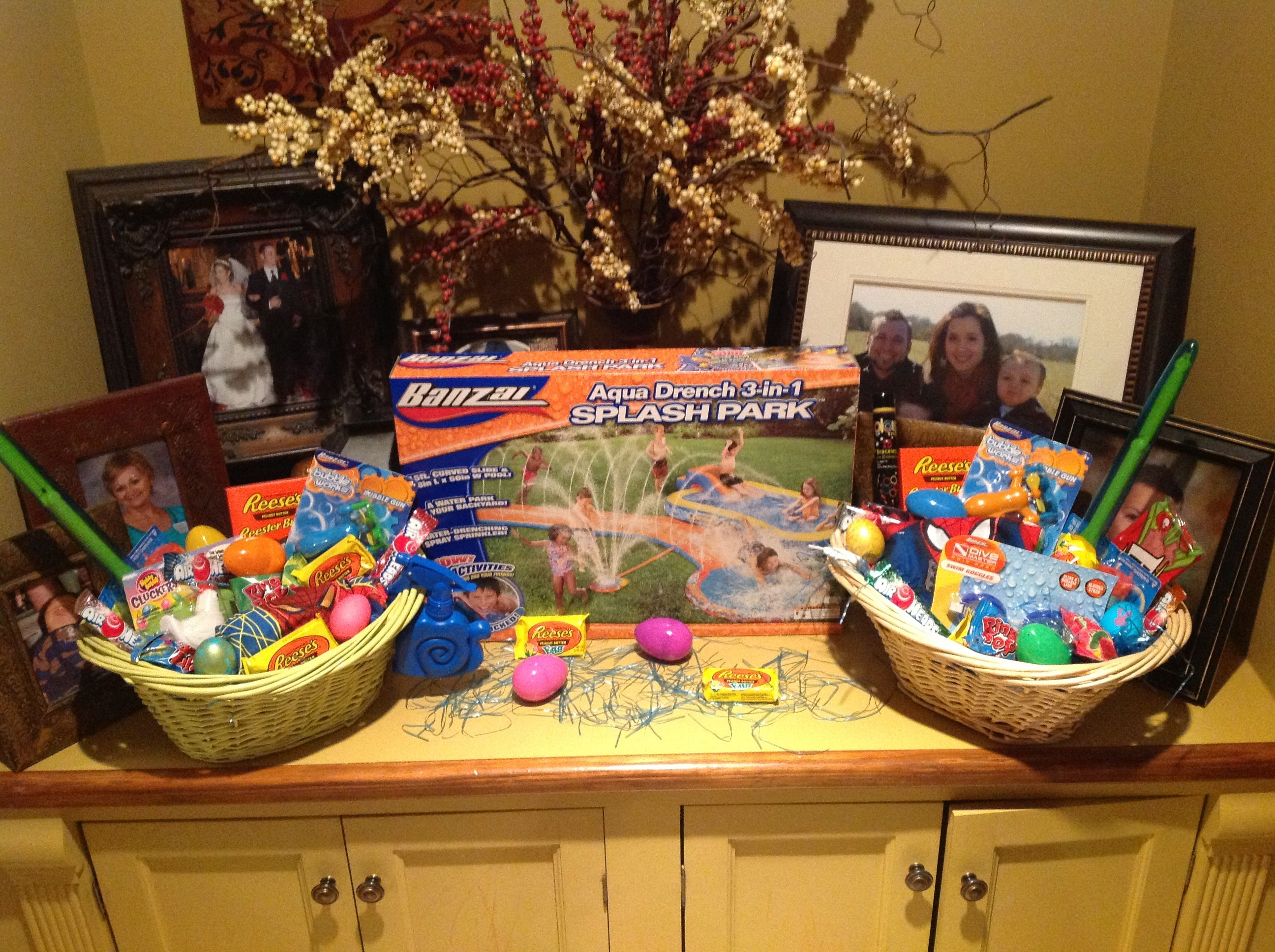 My boys easter baskets lots of little inexpensive items like my boys easter baskets lots of little inexpensive items like bubble guns goggles negle Image collections