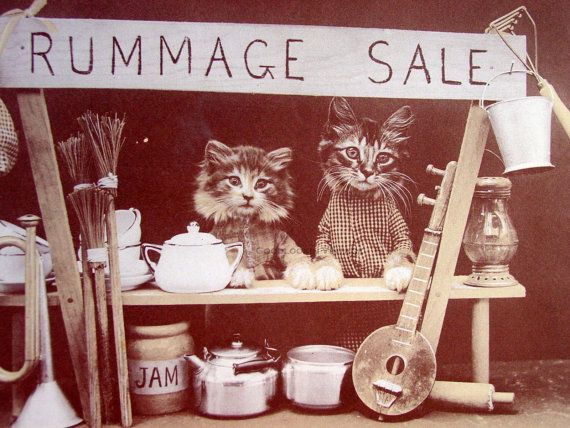 Image result for rummage sale vintage sign