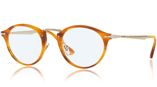 Discover the Persol Calligrapher Edition  PO3167V - 960, with frame Striped brown in Acetate/Metal made with original design and high quality.