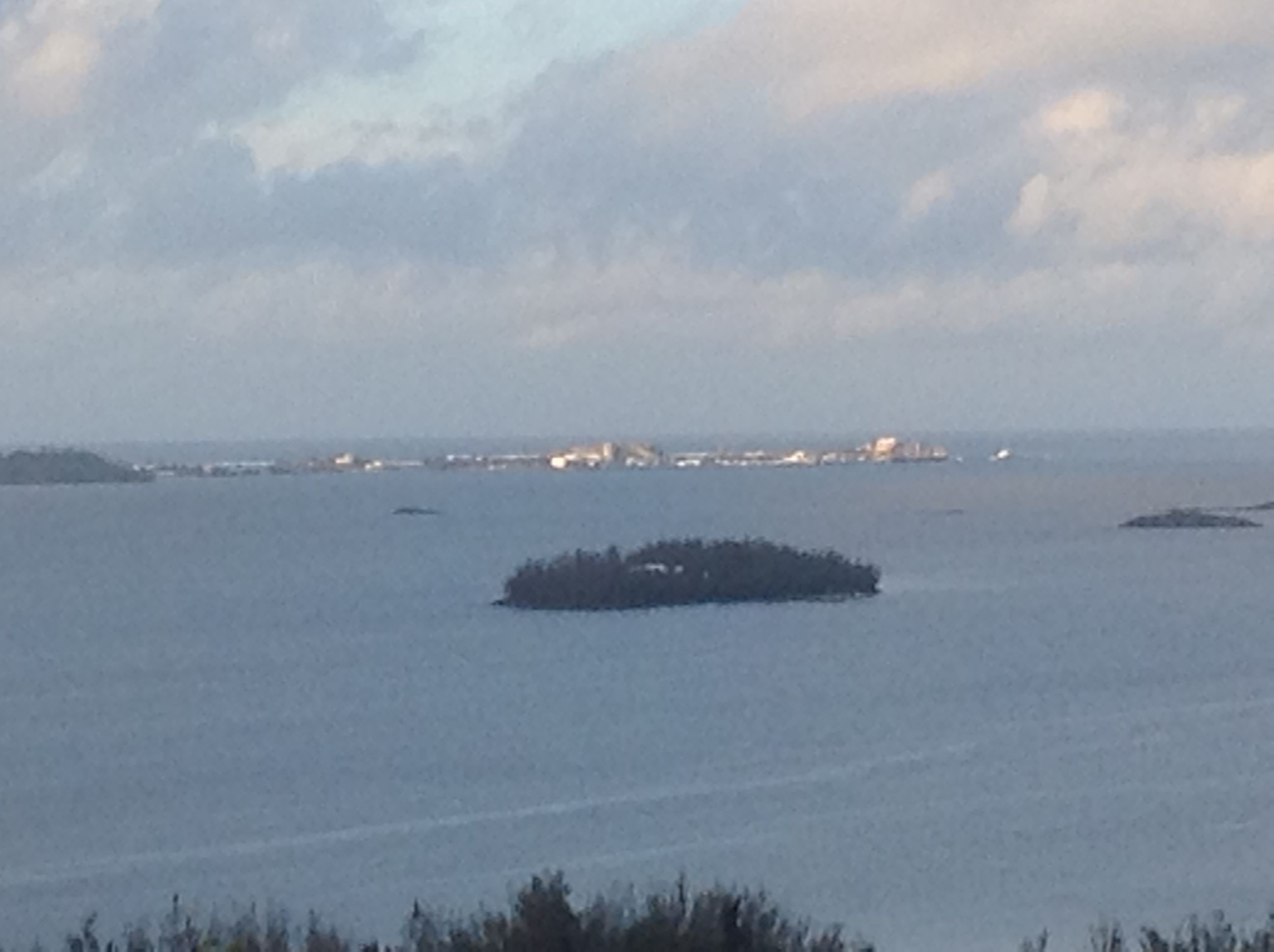 Dockyard in the distance from Gibbs Hill Lighthouse..