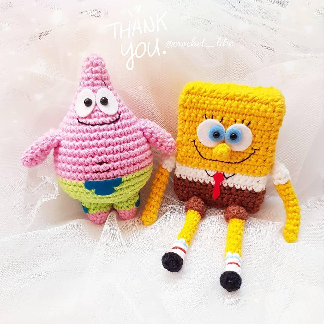 Amigurumi Spongebob - free crochet pattern by Aivlis designs ...   1080x1080