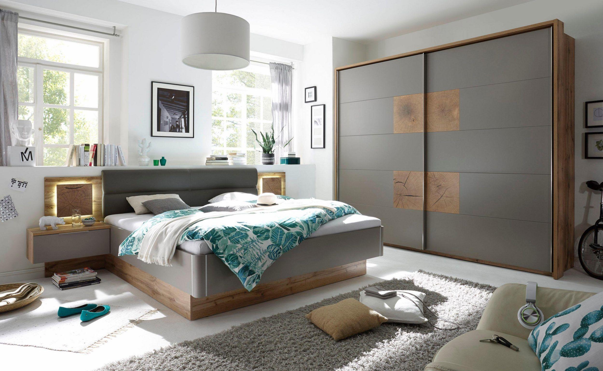 Bettanlage (3tlg.), Set aus Bett und 2 Nachttischen