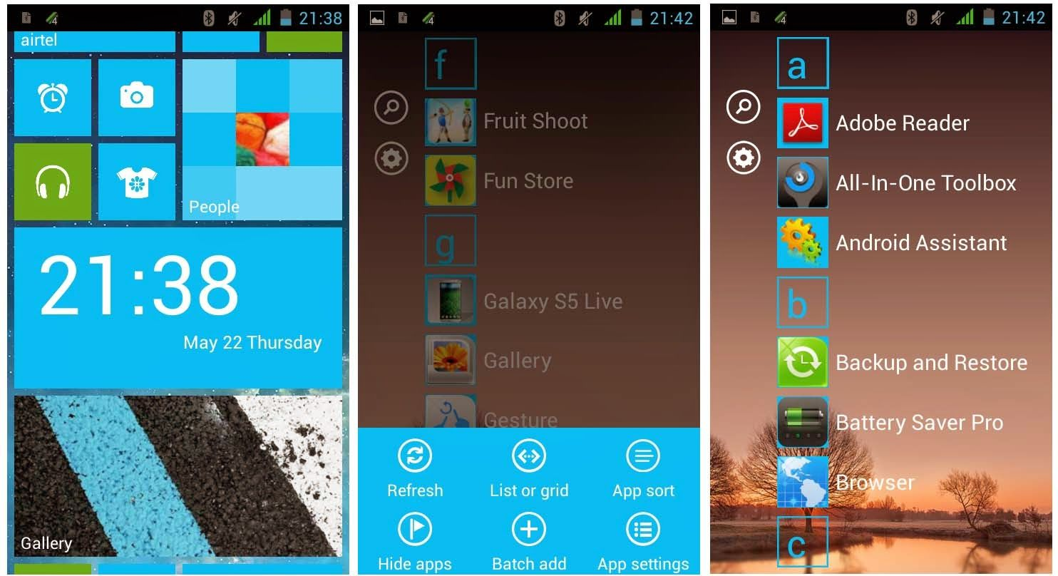 TOPANDROIDSTUFF How to get windows phone 8 launcher apps