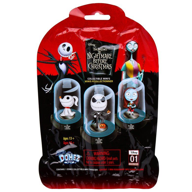 """It's always Halloween in Halloween Town! Blind bag includes 1 randomly assorted figure with display dome 9 figures to collect and display Collect them all! Ages 13+ Figure in dome measures 3"""" H By Disney"""