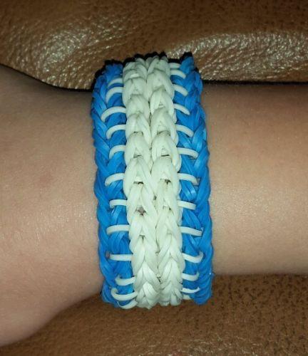 Rainbow loom blue and white glow in dark bracelet  https://t.co/yvoPRQ8bMU https://t.co/O4XCHZNwtZ