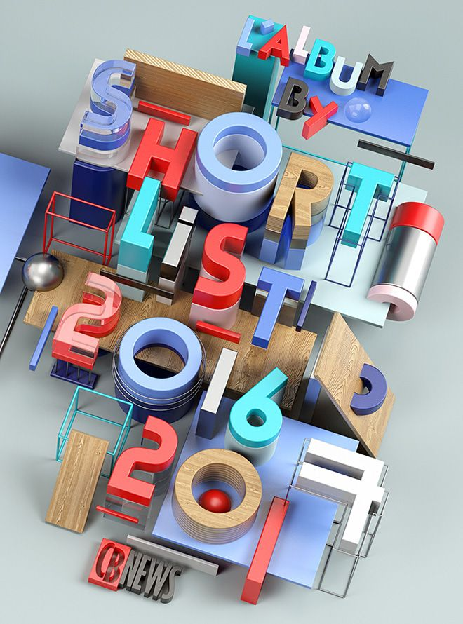 Benoit Challand is a creative image maker focused on digital art, 3D illustration and typography. #3dtypography