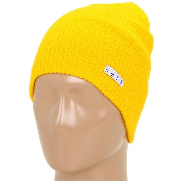 b178d0e6fa7 Neff Daily Beanie (Mustard) Beanies ( 5.99) ❤ liked on Polyvore featuring  accessories