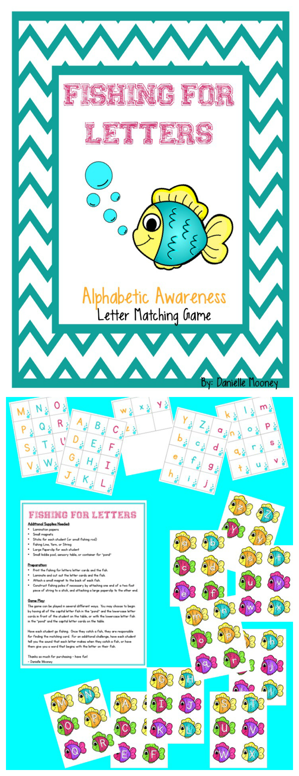 Fishing For Letters Alphabet Matching Game Lettering