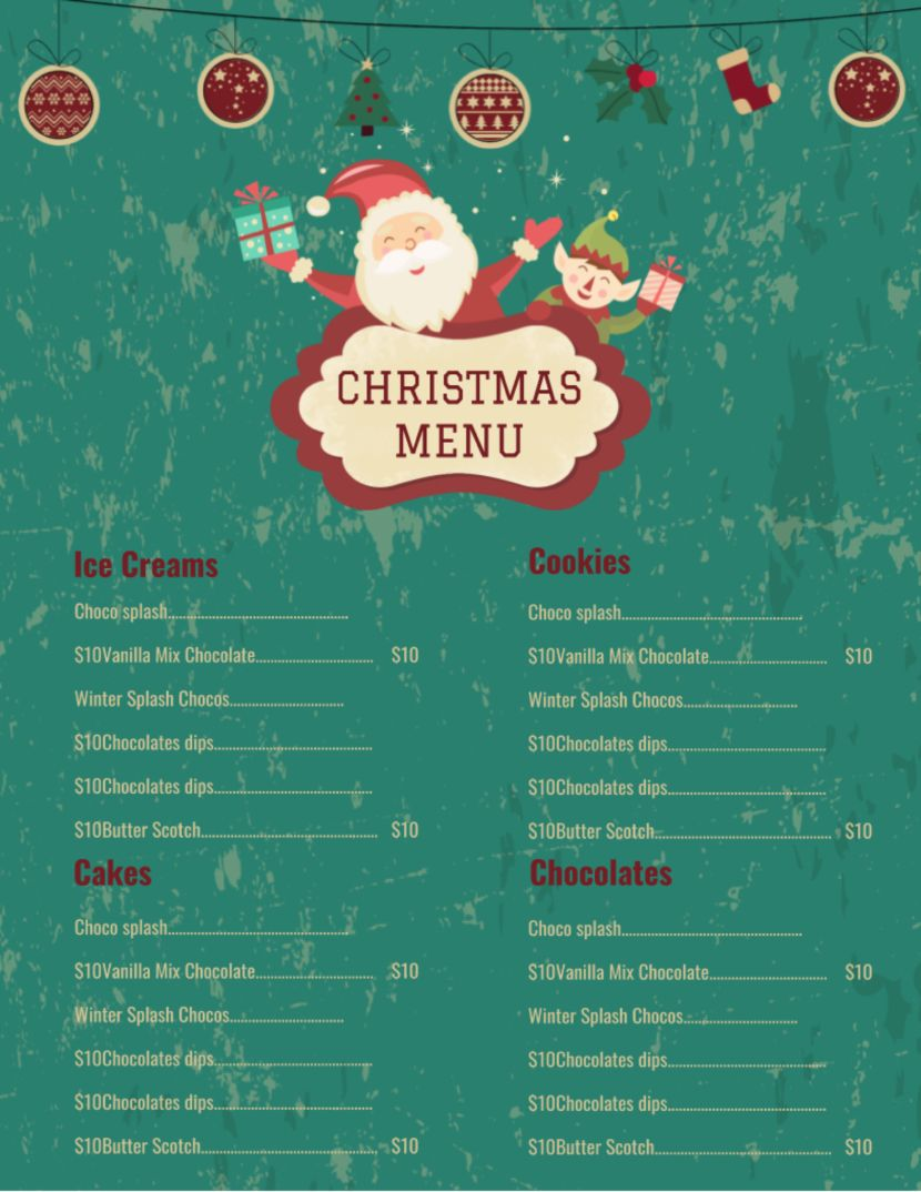 32 Free Simple Menu Templates For Restaurants Cafes And Parties Event Menu Template Simple Menu Menu Template