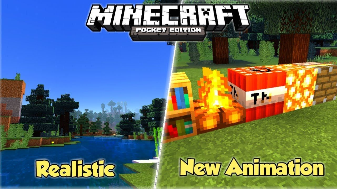 Texture Pack Shader Realistic For Minecraft Pe 1 10 No Lag Youtube