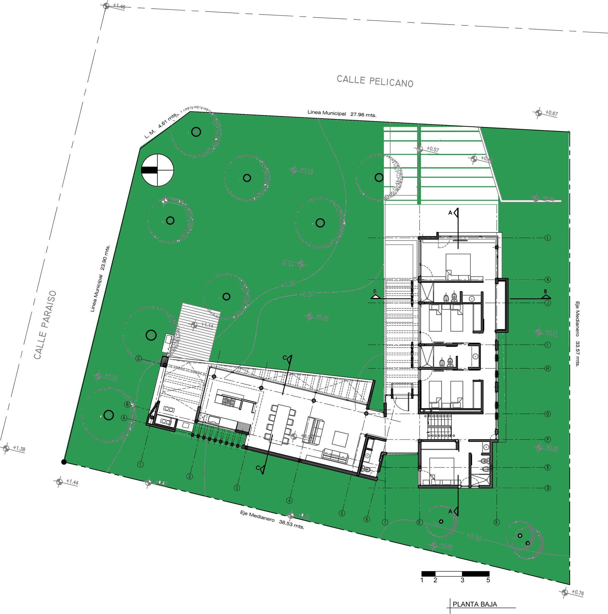 Galeria De Casa Pelicano Estudio Galera 16 Floor Plans Ground Floor Plan How To Plan