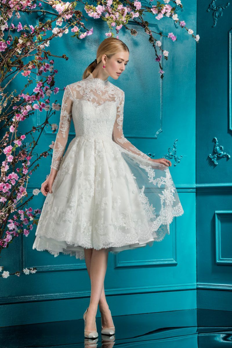Lace Short Dress | Style 11763 | Vintage Style Wedding Gowns ...