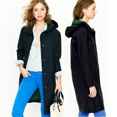 J. Crew Mackintosh Luggie coat - wool flannel to