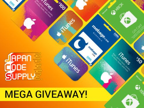 5 winners iTunes Gift Cards valued at $49 each (5000 JPY
