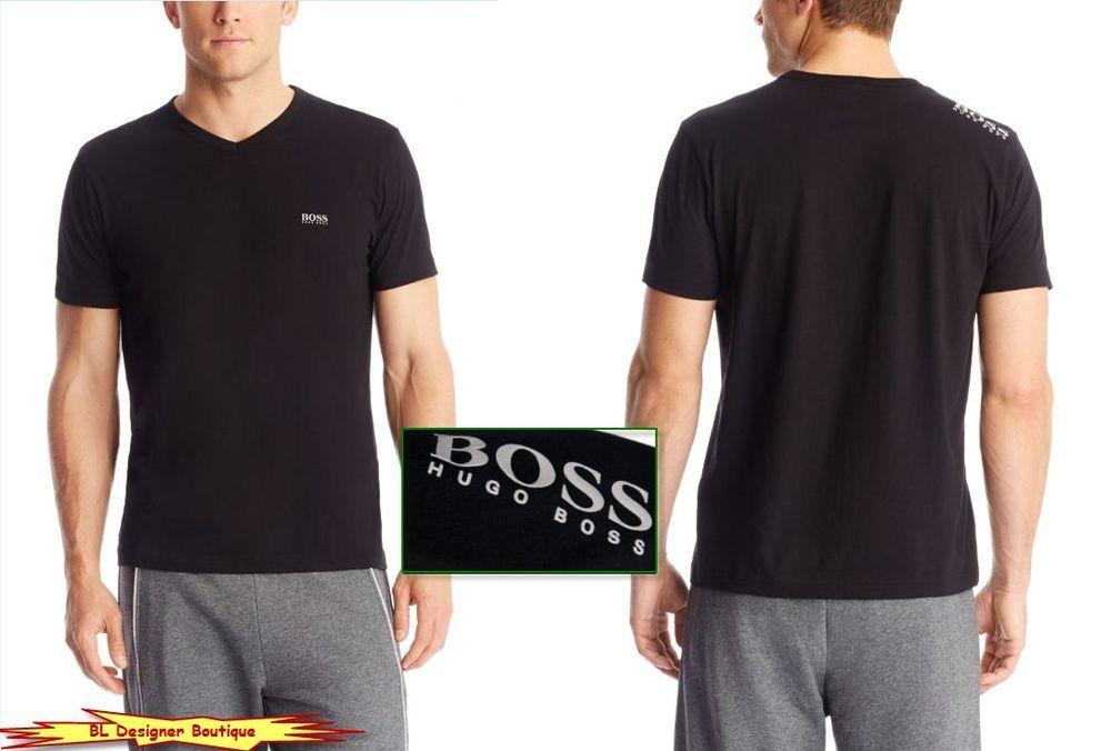 "BOSS GREEN by HUGO BOSS ""Tee"" Regular Fit Logo Shoulder V-neck T-Shirts NWT  #HugoBoss #GraphicTee"