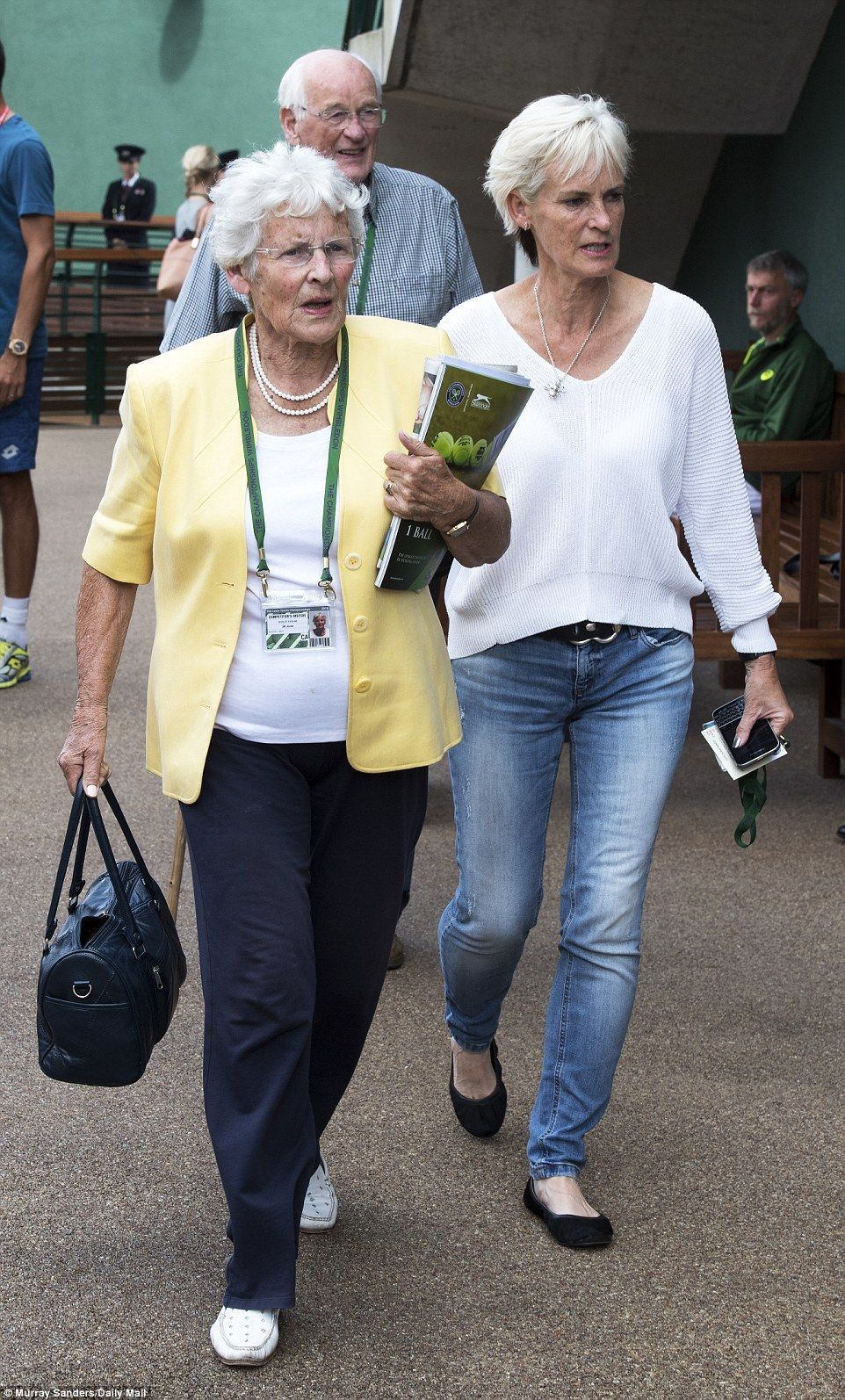059f13f67a3 Andy Murray s grandmother Shirley Erskine (left) arrived with his mother  Judy to…