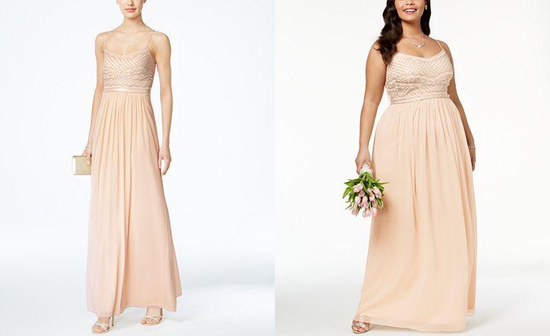 Adrianna Papell Beaded Chiffon Gown | Beaded chiffon, Chiffon gown ...