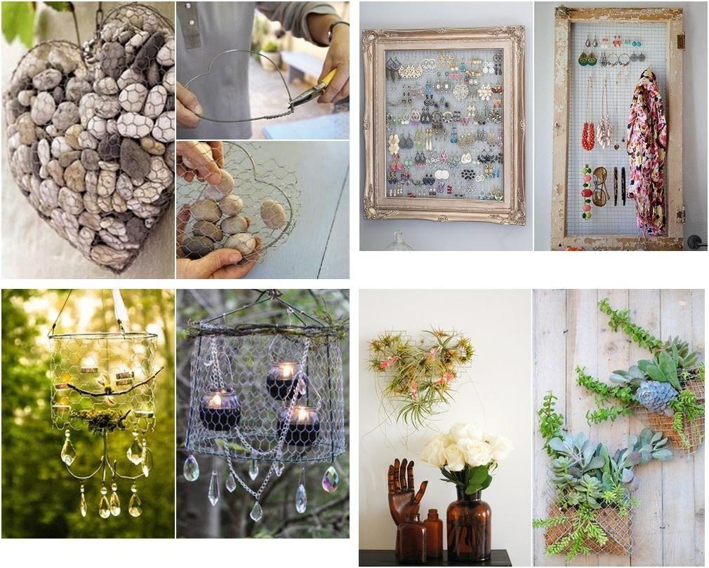 20 manualidades f ciles con malla de gallinero para decoraci n vintage adornos con herraduras - Decoracion vintage reciclado ...