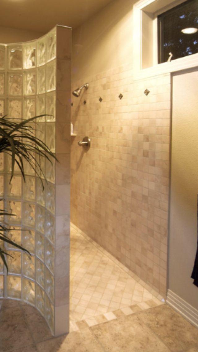 Walk in no door shower Bathroom Pinterest Doors, Showers