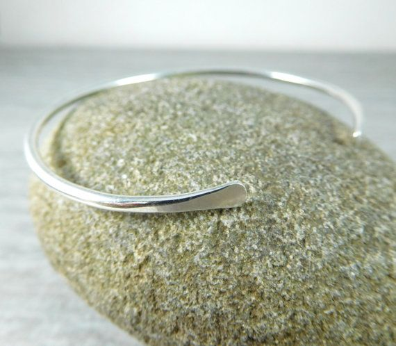 Hey, I found this really awesome Etsy listing at https://www.etsy.com/listing/505156389/thin-sterling-silver-cuff-bracelet-open