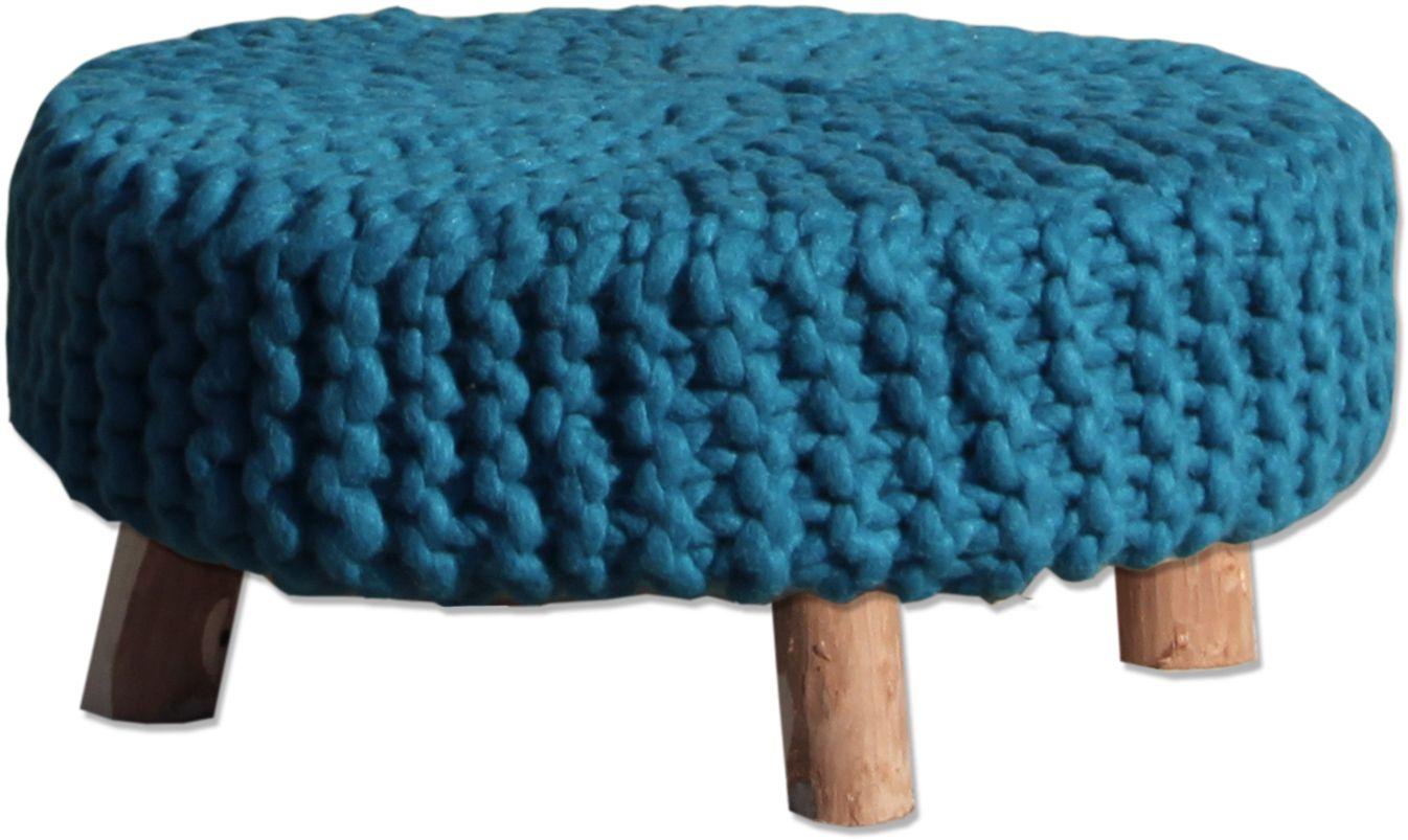 Kruk wol 65x65 blauw - By Boo