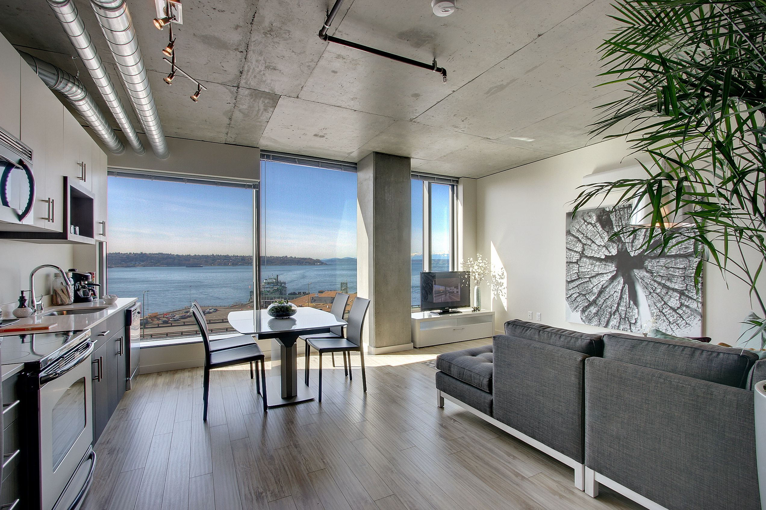 Puget Sound Views! Seattle apartment, Bedroom apartment