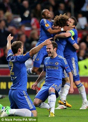 We've done it: Chelsea celebrate at full time - Europa League winners