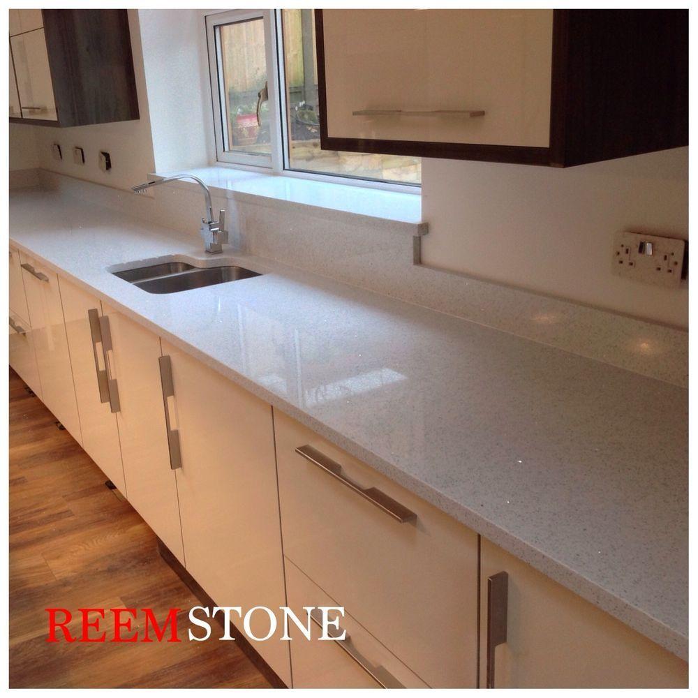 Quartz Worktops | Granite Worktops   White Starlight Quartz