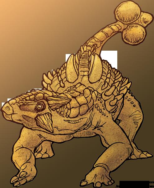 How to draw ankylosaur. 4dogarts.com