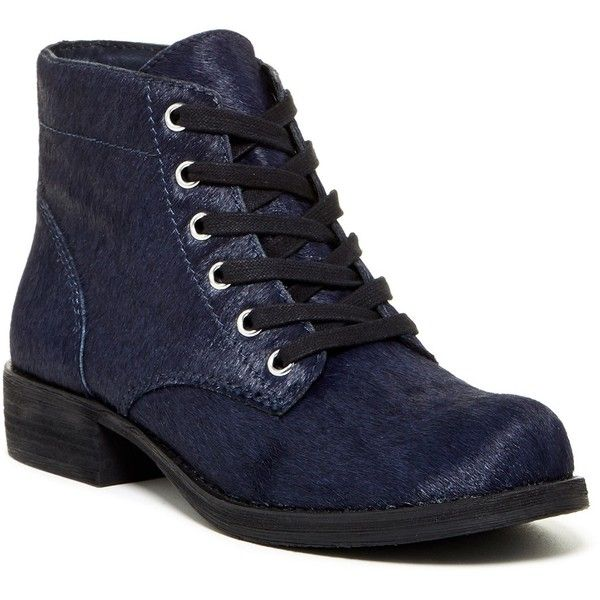 a3b1c90df60c3 Sam Edelman Bleecker Genuine Calf Hair Lace-Up Boot ( 90) ❤ liked on  Polyvore featuring shoes
