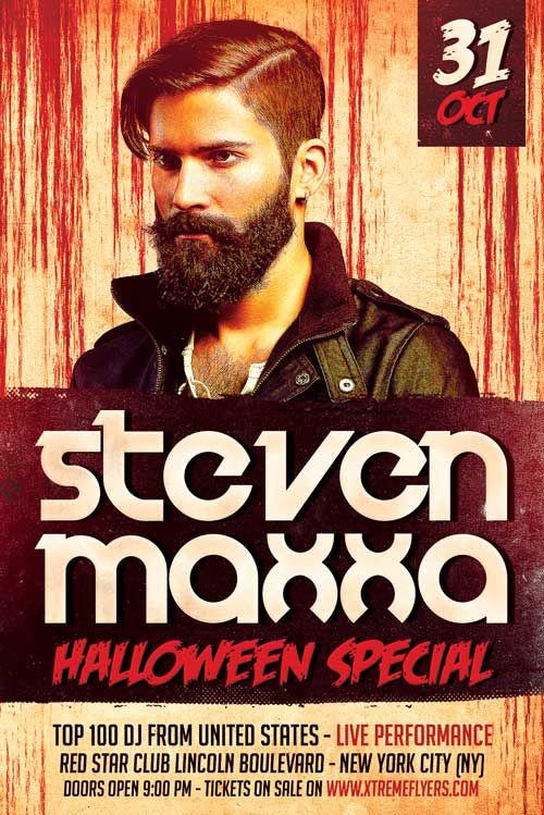 Free Halloween DJ Flyer Template -    freepsdflyer free - free flyer templates word