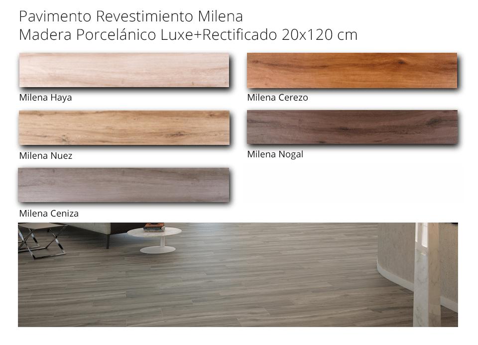 Pavimento revestimiento milena haya 20x120 cm madera - Pavimento imitacion madera ...