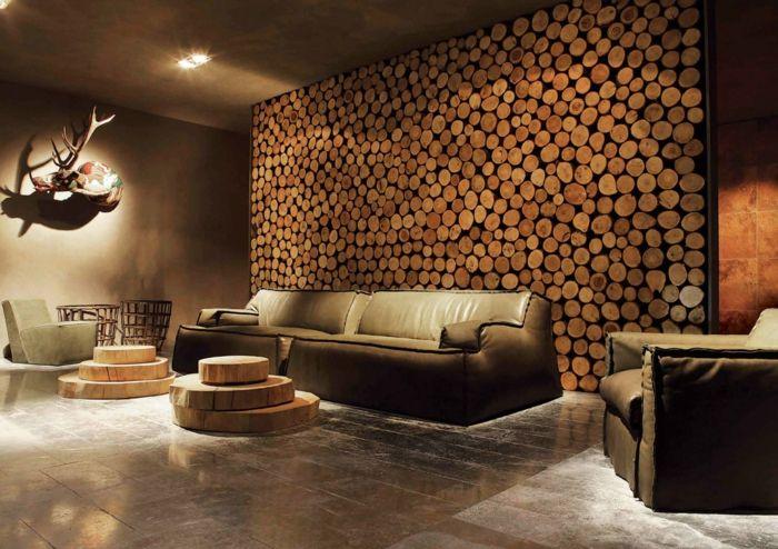 rustikale holzwaende wohnzimmer gestalten Wandgestaltung - wandgestaltung wohnzimmer rustikal