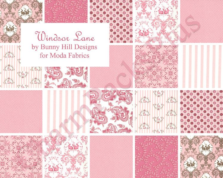 Windsor Lane Baby Girl Pink Moda Layer Cake 20 Ten Inch Etsy Baby Girl Quilts Cheater Quilt Fabric Moda Fabric Quilts