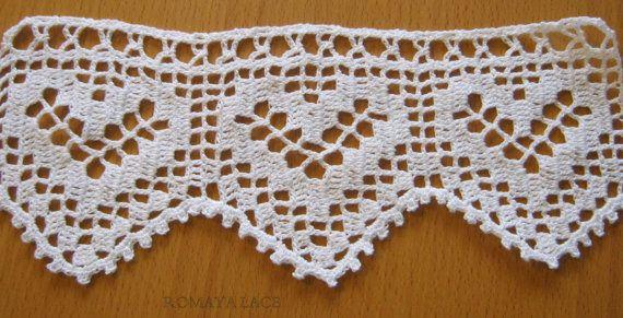 Handmade lace crochet trim \